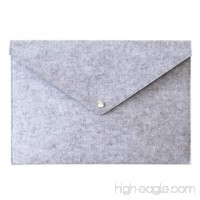 Document Bag  Felt Professional Expanding A4 File Bag  Paperwork Storage Envelope Folder Bag  Document Bills Paper Container Pouch Briefcases(Light Gray) - B07FN33RL2