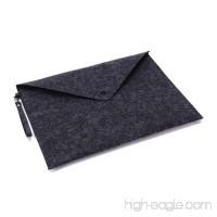 HOBOYER File Holder  Portable Felt Expanding Document File Folders Luxury Durable A4 Paper Storage Bag Case for Office School Organizer (Dark Grey) - B07DXQM63P