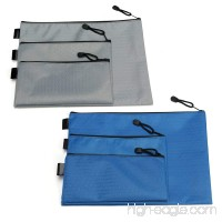 NKTM File Bags Set of 6 File Accessories Organizer for A4/A5/A6 - Blue Gray - B07BKTTZTX