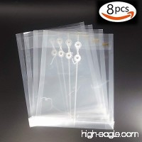 Project Envelope A4 Size Set of 8 Water/Tear Resistant Translucent Paper Plastic Envelope with Button and String Tie Closure - B07C5Q3N8R