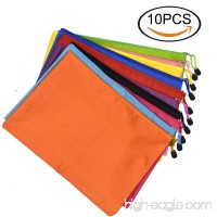 Renashed 10Pcs Waterproof Zipper A4 File Bags Office Document Bags Students Files Category Bag 10 Color - B07D3B9PNJ