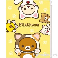 San-X Characters Clear File with 6 Pockets and 1 Zip Pocket Clear document folder A4 Size (Rilakkuma / cat) - B015VYONP2