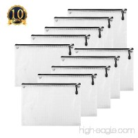 SUBANG 10 Pack Black New Design Zipper File Bags In A4 Sizes File Holders With Grid Travel Pouch - B07CMLGSGH