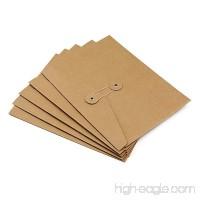 Zhi Jin 5Pcs Thick Kraft Paper A5 File Folder Organizer Expanding Document Holder Bag with String Tie Closure Office Supplies Horizontal - B073SRJ8XS