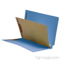 11 Pt. Blue Folders  Full Cut End Tab  Letter Size  1 Divider Installed (Box of 40) - B00VMM4JU2