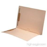 11 pt Manila Folders  Full Cut End Tab  Letter Size  Full Open Bottom Back Pocket  Fasteners Pos #1 & #3 (Box of 50) - B00LG6LGF0
