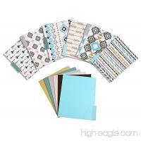 12 Pack File Folder Set ¡V Decorative Designer Letter Size Folders Assorted ? Cut Top Tab File Organizers - 11.5 x 9 Inch - B01MXHH1H7