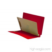 14 Pt. Red Folders  Full Cut End Tab  Letter Size  1 Divider Installed  Mylar Reinforced Spine (Box of 40) - B00VMM9ETI