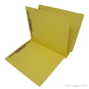 14 Pt. Yellow Classification Folders Full Cut End Tab Letter Size 1 Divider (Box of 25) - B00VMLGRPS