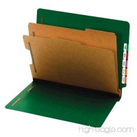 Globe-Weis/Pendaflex End Tab Classification Folders 2 Dividers 2-Inch Embedded Fasteners Letter Size Dark Green 10 Folders Per Box (23785GW) - B0072DM66O