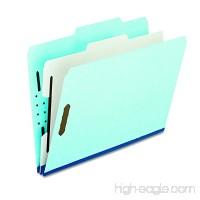 Pendaflex Pressboard Classification Folders with Dividers  1 Divider  Letter size  Blue  10 Per Box (9200 2/5RC-P1) - B000WLFS1S