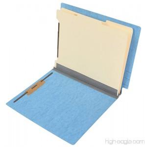 TAB Pressboard Classification Folder - End Tab 2 Dividers 6 Fasteners Letter Size 2 Expansion - Blue 10/Box - B07CYX9TS8