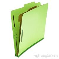 Universal 10251 Pressboard Classification Folder Letter Four-Section Green (Box of 10) - B001TQFQAI