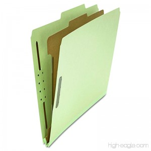 Universal 10253 Pressboard Classification Folder Letter Four-Section Gray-Green (Box of 10) - B0013CPYGY