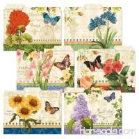 24 Grand Fleur File Folders Value Pack - Set of 24 (6 Designs) 1/3 Cut Staggered Tabs  Letter-Size Designed Folders - B071169363