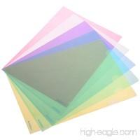BCP 15pcs Plastic A4 Size Document Folders Paper Sleeves Blue Green Yellow Pink Clear - B075DY2QVJ
