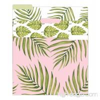 bloom daily planners File Folders - Set of Six 8.5 x 11 Folders - Palm Leaves - B06X3WSH4M