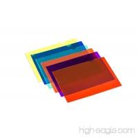 Lightahead LA-7555 Clear document Folder A4 size Set of 12 in 6 assorted Colors Blue Green Orange Yellow Purple Maroon - B00LQZE5C2
