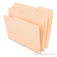 Pendaflex CutLess File Folders with Softer Paper Edges  Letter Size  Manila  1/3 Cut Tabs in Assorted Positions  100 Per Box (48420) - B00016ZLE8