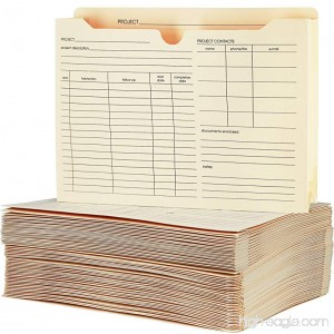 """Pendaflex File Folder Jackets Letter Size Manila Preprinted Expands 2"""" inches Reinforced Tabs 9.5"""" x 11.5"""" inches – Pack of 50 (27985) - B079P7ZJKV"""