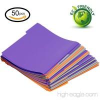 Plastic file folder letter size 3 color 1/3 cut tab 50 Per Box - B071HXVCM9