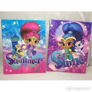 Set of 2 Shimmer and Shine Folders (2 Pockets 3 Rings) - Disney - B074MP8LMW
