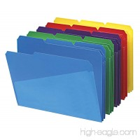 Smead 10540 Slash Pocket Poly File Folders 1/3 Cut Top Tab Letter Assorted (Box of 30) - B0015ZYBV8