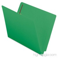 Smead End Tab Fastener File Folder  Shelf-Master Reinforced Straight-Cut Tab  2 Fasteners  Letter Size  Green  50 per Box (25140) - B00006IF3N