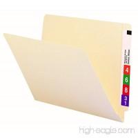 Smead End Tab File Folder  Shelf-Master Reinforced Straight-Cut Tab  Letter Size  Manila  100 per Box (24109) - B00006IF3D