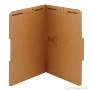 Smead Fastener File Folder 2 Fasteners Reinforced 1/3-Cut Tab Legal Size Kraft 50 per Box (19837) - B00006IF37