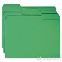 Smead File Folder  Reinforced 1/3-Cut Tab  Letter Size  Green  100 per Box (12134) - B00006IEVK
