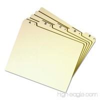 Smead Heavyweight File Guides  1/5-Cut Tab (A-Z)  Letter Size  Manila  Set of 25 (50176) - B000KIBSLC