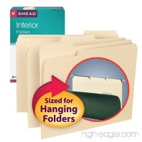 Smead Interior File Folder  1/3-Cut Tab  Letter Size  Manila  100 per Box (10230) - B00006IF18