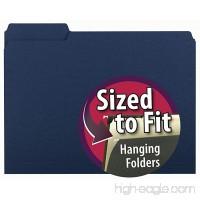 Smead Interior File Folder  1/3-Cut Tab  Letter Size  Navy  100 per Box (10279) - B000FDLKK6