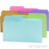 Smead SuperTab File Folder Oversized 1/2-Cut Tab Legal Size Assorted Colors 100 per Box (15906) - B001L1REG0