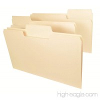 Smead SuperTab File Folder  Oversized 1/3-Cut Tab  Legal Size  Manila  100 Per Box (15301) - B000XJSJ9C
