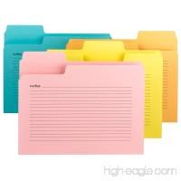 Smead SuperTab Notes Folder Oversized 1/3-Cut Tabs Letter Size Assorted Colors 12 per Pack (11650) - B00PSLU9M0