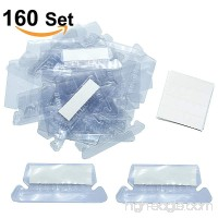 160 Sets Hanging File Folder Labels Insertable Plastic Tabs  2 inch Hanging File Inserts - B07FLV3CGT