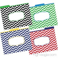 Barker Creek Fashion File Folders - Nautical Chevron Set of 12 (LL-1332) - B00FJE3TVY