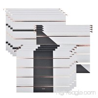 Hanging File Holders with 1/5-Cut Adjustable Tab Modern Designer Recycled Extra durable 12pcs A Set 6 ct. Letter size  3 different designs (Simple Stripes) - B07CVD7QWN