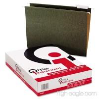 Office Impressions 1/5 Tab Hanging File Folders  Standard Green (Letter  25 ct.) - B00O27NIIS