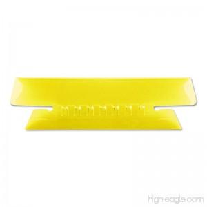Pendaflex 4312YEL Hanging File Folder Tabs 1/3 Tab 3 1/2 Inch Yellow Tab/White Insert 25/Pack (PFX4312YEL) - B00275Y9MQ
