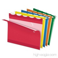 Pendaflex Colored Reinforced Hanging Folders  1/5 Tab  Letter  Asst  25/Box - B00FZYKSNU