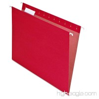Pendaflex PFX74511 EarthWise by 100% Recycled Hanging Folders  Letter Size  1/5 Cut  Red  25 per Box - B0002LD23E