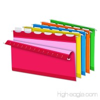 Pendaflex Ready-Tab Reinforced Hanging File Folders  Legal Size  Assorted Colors  6 Tab  25/BX (42593) - B00016UVP2