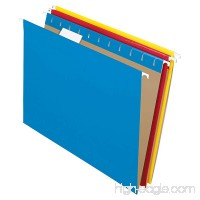 Pendaflex Recycled Hanging Folders Letter Size Assorted Colors 1/5 Cut 25/BX (81612) - B0006HXDKG