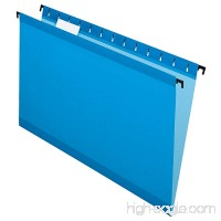 Pendaflex SureHook Reinforced Hanging Folders  Legal Size  Blue  1/5 Cut  20/BX (6153 1/5 BLU) - B00658MWPC