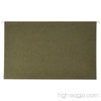 School Smart 70320 Legal Size Hanging File Folders with 1/3 Cut Tab - Box of 25 - Green - B003U6KV50