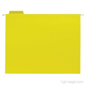 School Smart Letter Size Hanging File Folders with 1/5 Cut Tab - Pack of 25 - Yellow - B003U6QN0M
