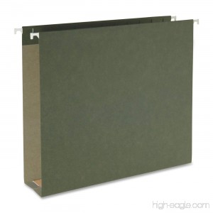Smead 100% Recycled Box Bottom Hanging File Folder 2 Expansion Letter Size Standard Green 25 per Box (65090) - B000FDR3K2